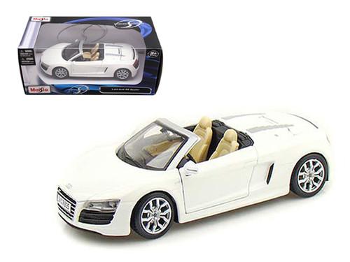 Audi R8 Spyder White 1/24 Scale Diecast Car Model By Maisto 31204