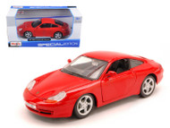 1997 Porsche Carrera 911 Red 1/24 Scale Diecast Car Model By Maisto 31938