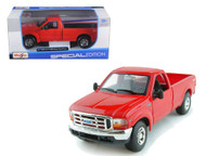 1999 Ford F-350 Super Duty Pickup 4x4 Red 1/27 Scale Diecast Model By Maisto 31937