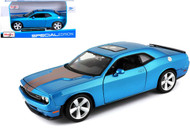 2008 Dodge Challenger SRT8 Blue 1/24 Scale Diecast Car Model By Maisto 31280