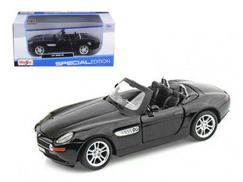 BMW Z8 Black 1/24 Scale Diecast Car Model By Maisto 31996