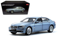 BMW 7 Series Active Hybrid Light Blue 1/18 Scale Diecast Car Model By Kyosho 08782