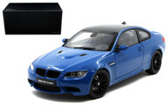BMW M3 Coupe E92M Blue 1/18 Scale Diecast Car Model By Kyosho 08734