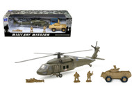 Newray Military Mission 1/43 Scale Sikorsky UH-60 Black Hawk Armored Vehicle Set 21833
