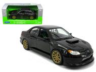 Subaru Impreza WRX STi Black 1/24 Scale Diecast Car Model By Welly 22487