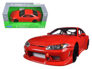 Nissan S-15 S15 RHD Red 1/24 Scale Diecast Car Model By Welly 22485