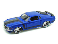 1970 Ford Mustang Boss 302 Blue 1/24 Scale Diecast Car Model By Maisto 31329