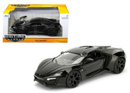 Jada 1/24 Scale Lykan Hypersport Black Diecast Car Model 98074