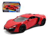 Lykan Hypersport Red Fast & Furious 1/24 Scale Diecast Car Model By Jada 97377