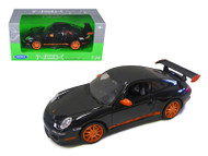 Porsche 911 ( 997 ) GT3 RS Black 1/24 Scale Diecast Car Model By Welly 22495