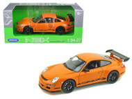 Porsche 911 ( 997 ) GT3 RS Orange 1/24 Scale Diecast Car Model By Welly 22495
