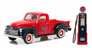 1950 GMC Truck Gulf Oil & Vintage Gas Pump 1/18 Scale Diecast Model By Greenlight 12984