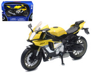 2016 Yamaha YZF-R1 Yellow Motorcycle Bike 1/12 Scale By Newray 57803