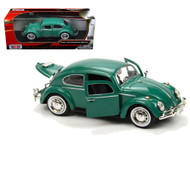 1966 VW Volkswagen Beetle Bug Green 1/24 Diecast Car Model By Motor Max 73223