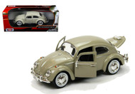 1966 VW Volkswagen Beetle Bug Beige 1/24 Diecast Car Model By Motor Max 73223