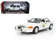 Ford Crown Victoria CHP California Highway Patrol Police 1/18 Scale Diecast Car Model By Motor Max 73524