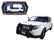 2015 Ford PI Utility Police Interceptor Slick Top White 1/18 Scale By Motor Max 73547
