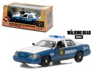 2001 Ford Crown Victoria Police Interceptor The Walking Dead TV Series 1/43 Scale Diecast Car Model By Greenlight 86504