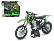 Kawasaki KX 450F Two Two Motorsports Chad Reed #22 Bike Motorcycle Model 1/12 Scale Diecast Model By NewRay 57687