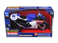 Suzuki GSX-R1000 #6 Makita Suzuki Rockstar Bike Motorcycle 1/12 Scale By NewRay 57017