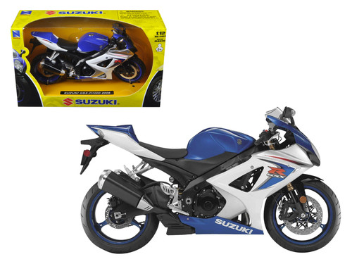 2008 Suzuki GSX-R1000 Blue Bike Motorcycle 1/12 Scale By NewRay 57003