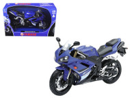 2008 Yamaha YZF-R1 Blue Motorcycle Model 1/12 Scale By NewRay 43103