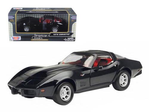 1979 Chevrolet Corvette Black 1/24 Scale Diecast Car Model By Motor Max 73244