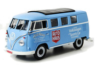 1962 Volkswagen Microbus Auto Haus Blue 1/18 Scale Diecast Model By Greenlight 12852