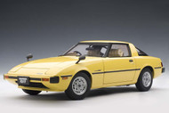 Mazda RX-7 SA Savanna Spark Yellow 1/18 Scale Diecast Car Model By AUTOart 75983