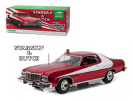 1976 Ford Gran Torino Starsky & Hutch Red Chrome Edition 1/18 Scale Diecast Car Model By Greenlight 19023