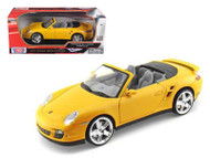 Porsche 911 Turbo Cabriolet Convertible Yellow 1/18 Scale Diecast Car Model By Motor Max 73183