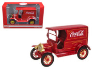 1917 Ford Model T Coke Coca Cola Delivery Truck Red 1/24 Scale Diecast Car Model By Motorcity Classics 448832