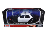 2010 Ford Crown Victoria Unmarked Police Car Black & White 1/24 Scale Diecast Car Model By Motor Max 76420
