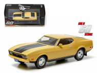 1973 Ford Mustang Mach 1 Yellow Eleanor Gone In 60 Seconds 1/43 Scale Diecast Car Model By Greenlight 86412