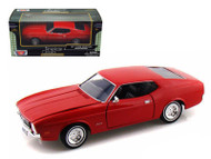 1971 Ford Mustang Sportsroof Red 1/24 Scale Diecast Car Model By Motor Max 73327
