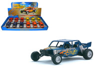 "Turbo Sandrail Dune Buggy Toy Car Box Of 12 Pull Back 5"" By Kinsmart Kids Fun KS5256"