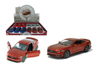 "2015 Ford Mustang GT Box Of 12 Pull Back 5"" 1/38 Scale By Kinsmart KT5386 D"