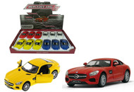 """Mercedes Benz AMG GT Box Of 12 Pull Back 5"""" 1/36 Scale By Kinsmart KT5388 D"""