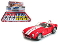 "1965 Shelby Cobra 427 S/C Toy Car Box Of 12 Pull Back 5"" 1/32 Scale By Kinsmart KT5322"