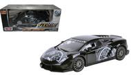 Lamborghini Gallardo LP560-4 Black Super Trofeo GT Racing 1/24 Scale Diecast Car Model By Motor Max 73363