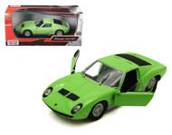 Lamborghini Miura P400 S Green 1/24 Scale Diecast Car Model By Motor Max 73368