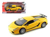 Lamborghini Gallardo Superleggera Yellow 1/24 Scale Diecast Car Model By Motor Max 73346