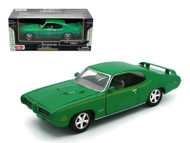 1969 Pontiac GTO Green 1/24 Scale Diecast Car Model By MotorMax 73242