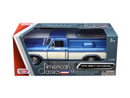 1979 Ford F-150 Pickup Truck Light Blue 1/24 Scale Diecast Model By Motor Max 79346