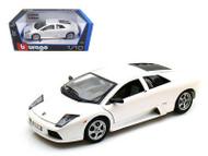 Lamborghini Murcielago White 1/18 Scale Diecast Car Model By Bburago 12022