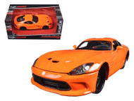 2013 Dodge Viper GTS SRT Orange Modern Muscle 1/24 Scale Diecast Car Model By Maisto 31363