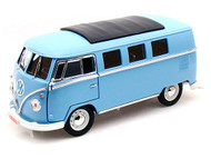 1962 Volkswagen Microbus Blue 1/18 Limited To 300 Pieces By Greenlight 12852