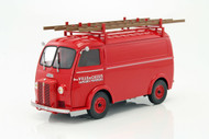 1955 Peugeot D4A W/ Ladders Red Pompiers 1/18 Scale Diecast Car Model By Norev 184707