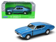 Oldsmobile 442 Blue 1/24 Scale Diecast Car Model By Welly 24024