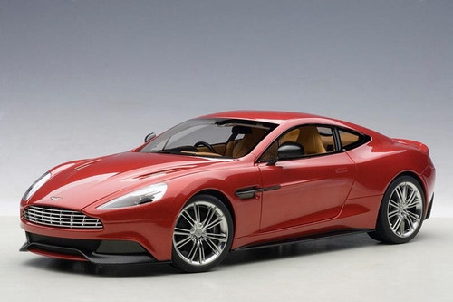 Aston Martin Vanquish 2015 Volcano Red 1/18 Scale Diecast Car Model By AUTOart 70249